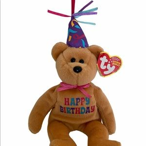 TY Celebration the Birthday Bear Beanie
